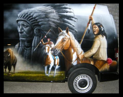 Indianer,Krieger,Native,Indian,Apache,Airbrush
