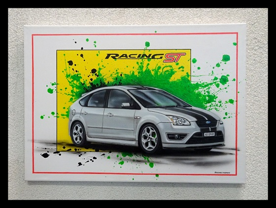 Ford Focus,Airbrushbild,Tuning,Design,Hunziker Airbrush